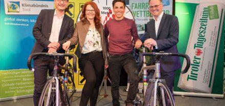 Start Fahrradwettbewerb 2018 in Tirol. Foto: Klimabündnis Tirol/Lechner