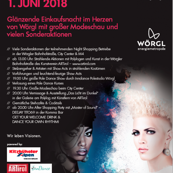 Night Shopping in Wörgl am 1. Juni 2018. Foto: SCW