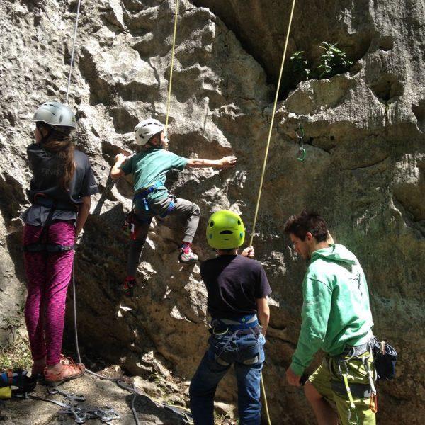 Jana, Lorenz, Adrian, Christopher beim Trainingscamp in Arco. Foto: Anna Kössler
