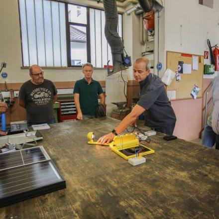 Exkursion zu den Photovoltaikanlagen der Stadtwerke Wörgl Juni 2018. Foto. Hubert Berger