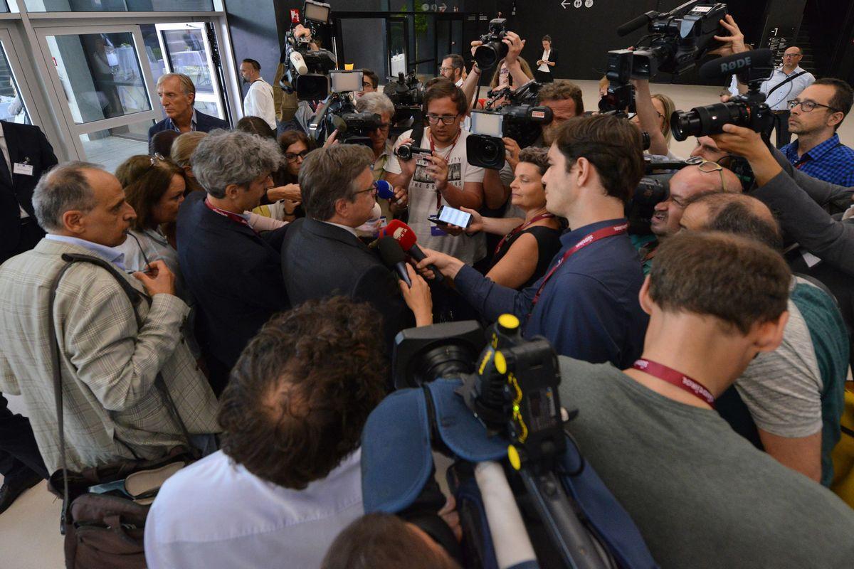Das Medieninteresse beim Brenner-Transit-Gipfel war groß. Foto: Presseamt Südtirol/Peter Daldo