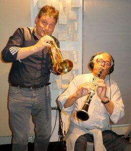 Michael Außerladscheider und Sepp Oberhofer im Studio. Foto: Die jungen Tiroler