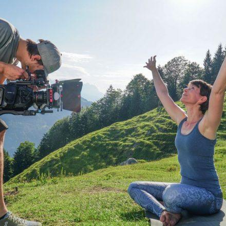 Am Set der Dreharbeiten für den neuen Wörgler Imagefilm, der am 18. Juli 2018 bei der Wörgler Sommernacht vorgestellt wird. Foto: Stefan Ringler