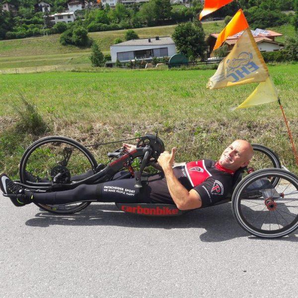 """Wolfgang Timischl geht auch heuer auf Tour: Die """"Sport's Life Handbike-Charity –Tour"""" macht am 22. August 2018 in Kundl und Wörgl Station. Foto: Timischl/Sport´s Life"""