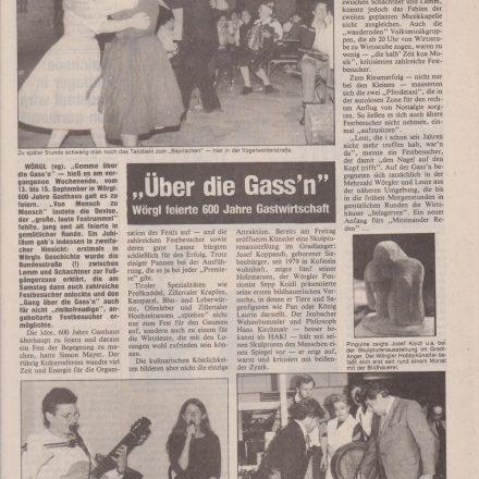 Zeitungsbericht 1985 Wörgler & Kufsteiner Rundschau.