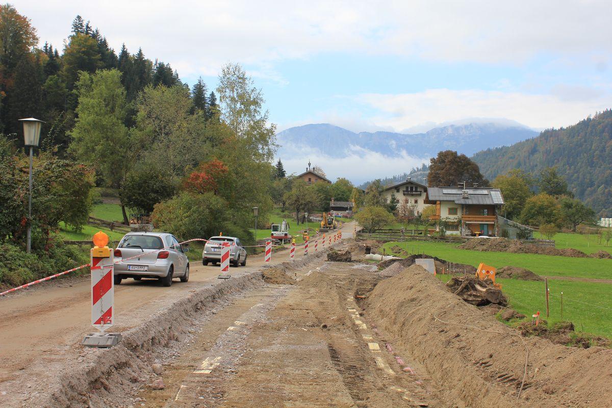 Strassensanierung in Wörgl Pinnersdorf