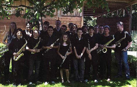 Die Big Band Wörgl seinerzeit. Foto: Big Band Wörgl