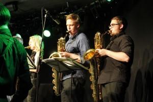 Big Band Wörgl Revival - v.l. Katrin Margreiter, Alexander Harb, Christian Spitzenstätter