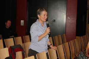 Öffentliche Gemeindeversammlung im Komma Wörgl am 19.11.2015: Ingrid Schipflinger.