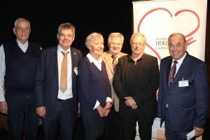 Tiroler Herztag in Wörgl - v.l. Ludwig Kögl, Dr. Gerald Bode, Anna Zimmermann, Helmut Rieder, Josef Hager und Roland Weißsteiner