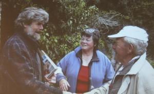Herzsportgruppe Wörgl bei Reinhold Messner. Foto: Herzsportgruppe