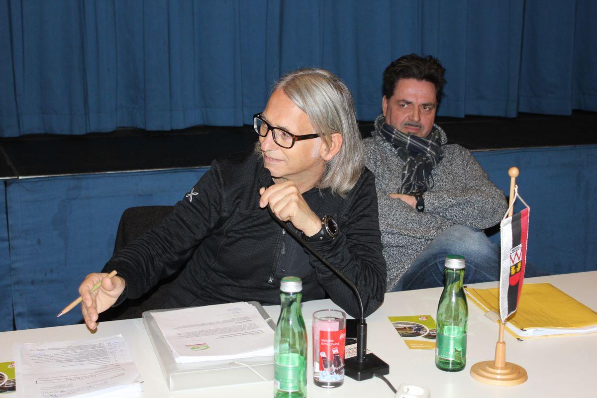 Wörgler Gemeinderat 5. November 2015 - Grün-GR Richard Götz und Mag. Alexander Atzl.