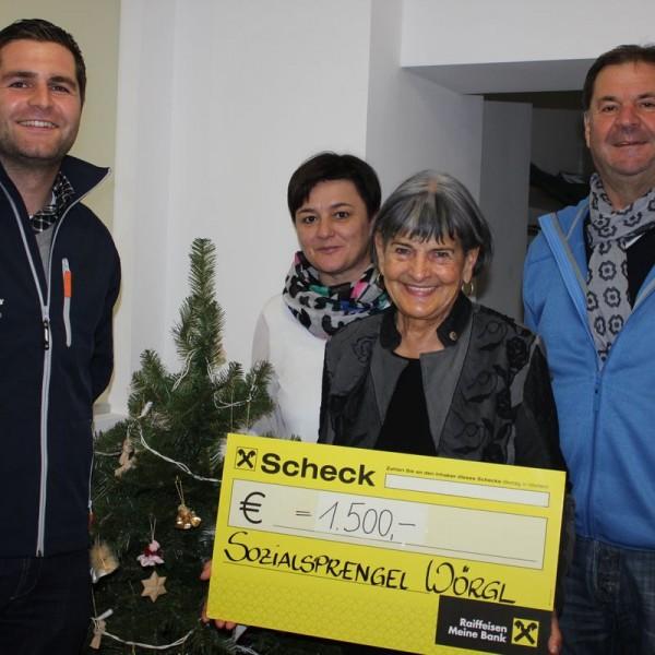 Spendenübergabe Elektro Seelaus an den Gesundheits- und Sozialsprengel Wörgl