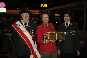 Gratulation vom Veteranenverein.