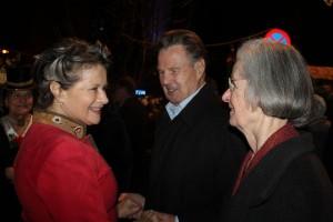 Alt-NR Dr. Sixtus Lanner und Gattin Angela stellten sich ebenfalls als Gratulanten ein.