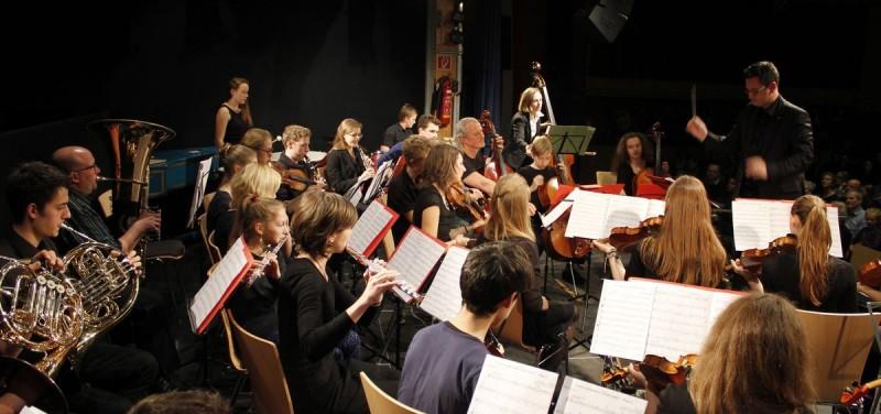 Das Jugendsymphonie-Orchester der LMS Wörgl.