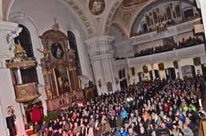 Die Pfarrkirche Brixen i. Th. war beim Benefizkonzert bis auf den letzten Platz gefüllt. Foto: Nageler