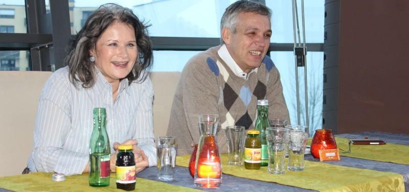 Bürgermeisterin Hedi Wechner und UFW-Gemeinderat Ing. Emil Dander bei der Pressekonferenz am 11.1.2016