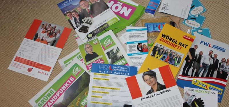 Wahlwerbung in Wörgl 2016 - nicht vollständig...