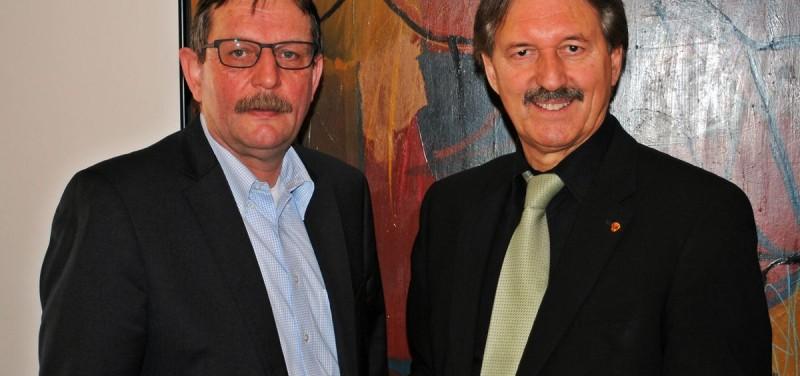 Wörgls Vizebgm. Dr. Andreas Taxacher und Hans Lintner, Bürgermeister von Schwaz (rechts). Foto: privat