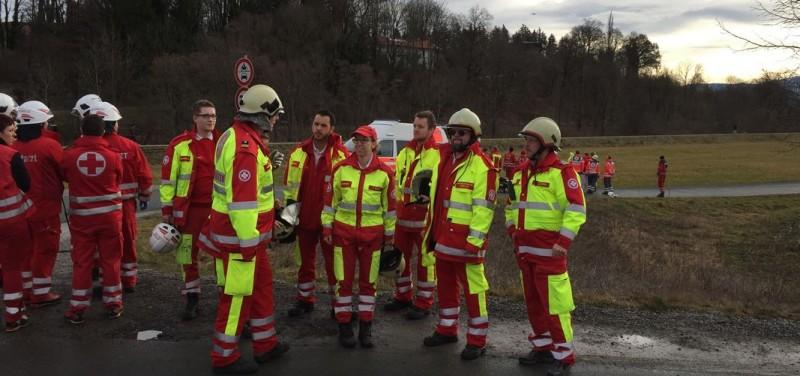 Tiroler Rettungskräfte halfen beim Zugsunglück in Bad Aibling. Foto: Samariterbund Tirol
