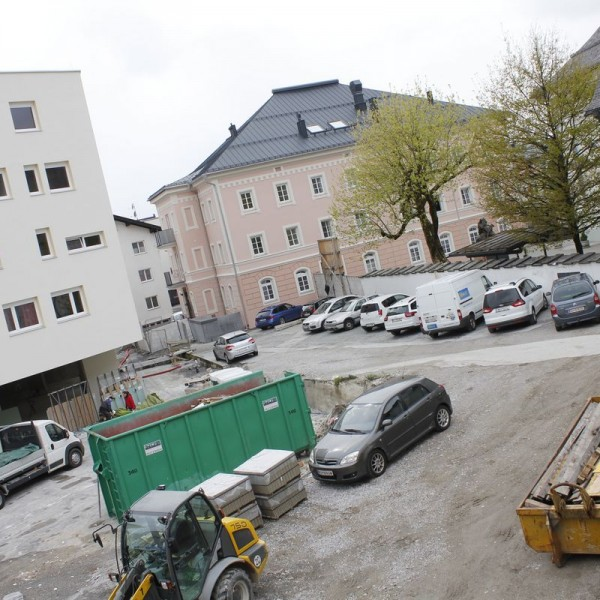 Gradl-Areal Frieden in Wörgl - Wohnbauprojekt und Stadtplatz. Foto: Veronika Spielbichler