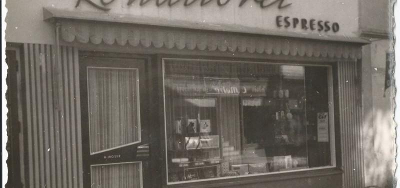 Das Café Moser in den 1950er Jahren. Foto: privat