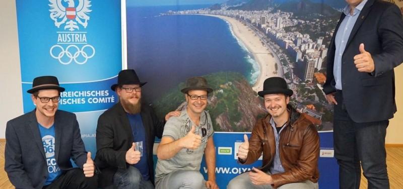 TMP und der Organisator vom Austria House in Rio, Florian Gosch vom Österreichischen Olympischen Comité. Foto: TMP
