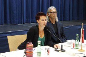 Grün-Gemeinderäte Catarina Becherstorfer und Richard Götz. Foto: Veronika Spielbichler