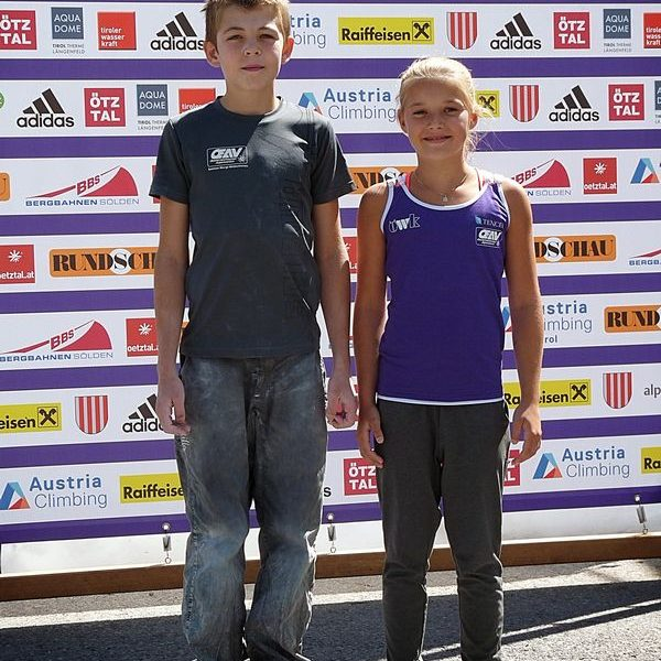 Moritz Schlögl und Dorina Puchleitner. Foto: ÖAV Wörgl Wildschönau