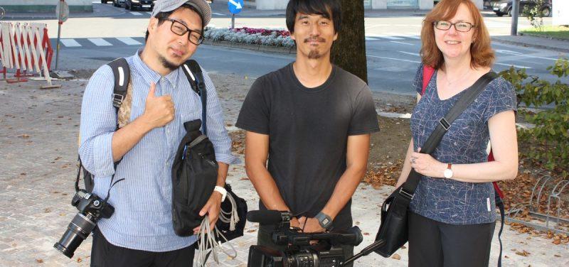 TV-Filmaufnahmen des japanischen Senders Asahi TV am 14.9.2016 in Wörgl. Foto: Veronika Spielbichler