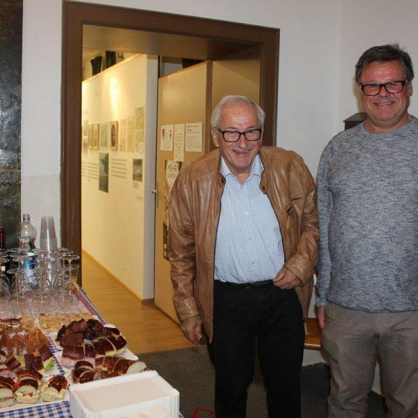Filmemacher Egon Frühwirth und Heimatmuseumsvereinsobmann Mag. Markus Steinbacher. Foto Veronika Spielbichler