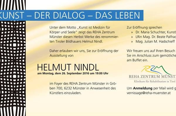 Einladung zur Ausstellung von Helmut Nindl in Münster.