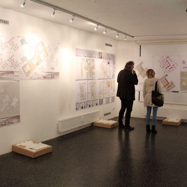 Ausstellung Architektenwettbewerb Südtiroler Siedlung Wörgl neu im Oktober 2016. Foto: Veronika Spielbichler