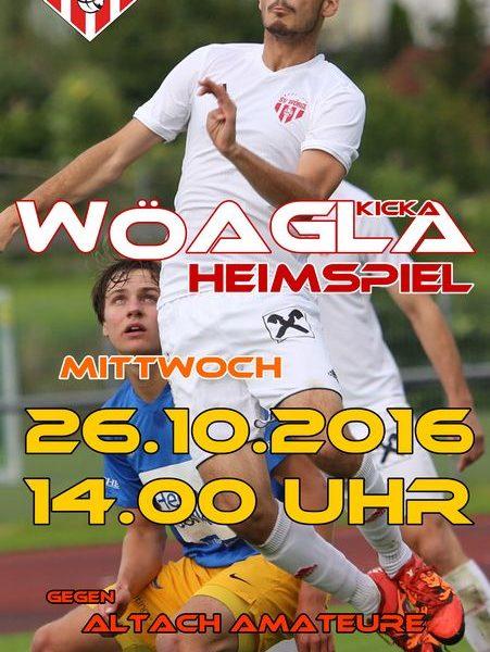 Am 26. 10. 2016 trifft der SV Wörgl beim Heimspiel auf Altach. Foto Unterland