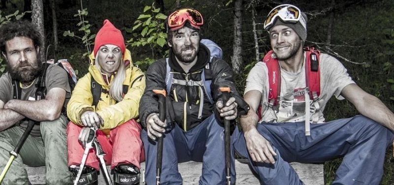 Vier der fünf Heimschnee-Hauptdarsteller. Foto: Heimschnee