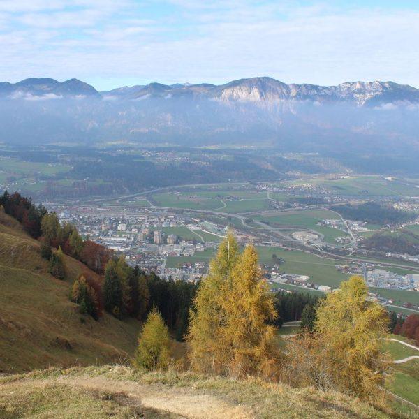 Blick von der Möslalm aufs Inntal Richtung Wörgl-Kirchbichl am 30.10.2016. Foto: Veronika Spielbichler