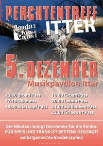 Plakat Perchtentreff Itter - Lauda Pass.