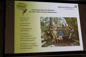 Jahreshauptversammlung ÖAV Sektion Wörgl Wildschönau 11.11.2016. Foto: Veronika Spielbichler