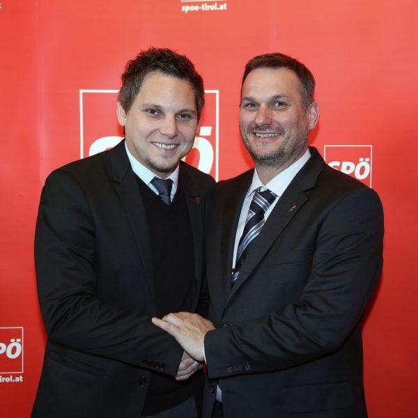 """""""Ich kann beruhigt übergeben, Christian Kovacevic ist der beste Kandidat für diese Funktion"""", sagt Klaus Mairhofer (re.) Foto: SPÖ Hitthaler"""