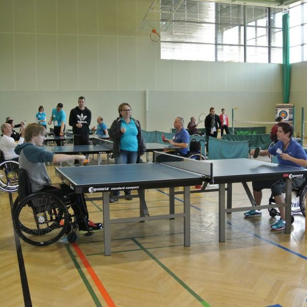 Coloplast-Racketlon im Rehabilitationszentrum Bad Häring 2016. Foto: Martina Eder
