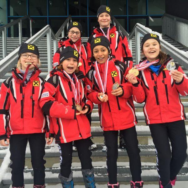 Eisschnelllaufteam des SC Lattella Wörgl. Foto: SC Lattella Wörgl