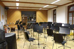 Probelokal der Stadtmusikkapelle Wörgl Februar 2017. Foto: Veronika Spielbichler