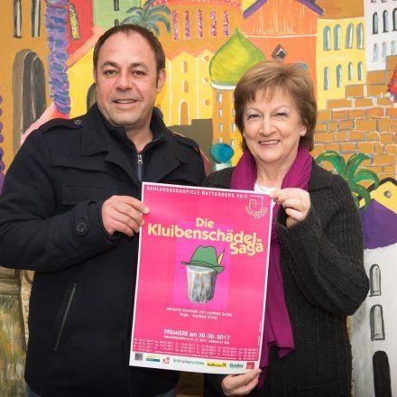 Regisseur und Autor Manfred Schild mit der Obfrau der Schlossbergspiele Claudia Lugger. Foto Grießenböck