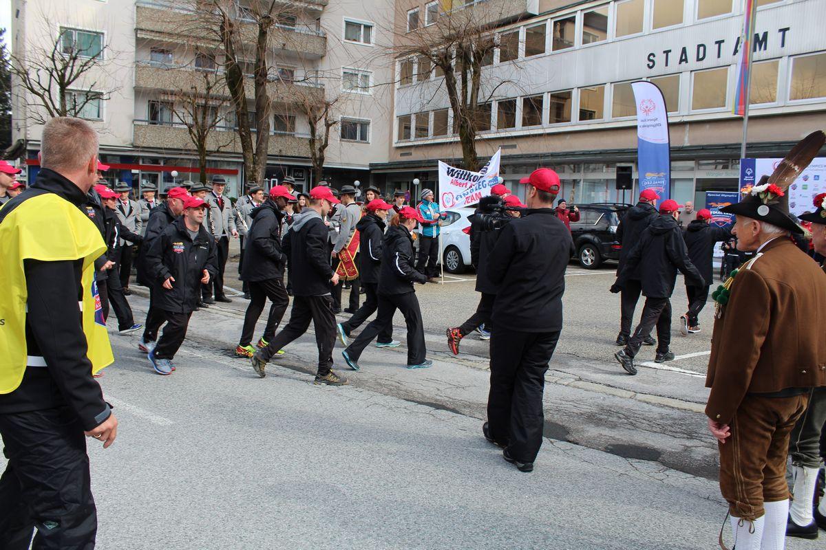Fackellauf special olympic world winter games 2017 in Wörgl. Foto: Veronika Spielbichler