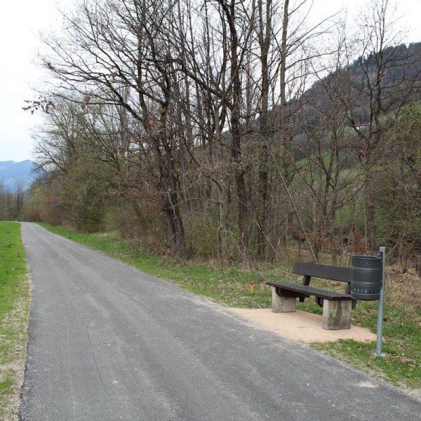 Neuer Bruckhäusler Radweg April 2017. Foto: Veronika Spielbichler