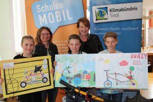 Crazy Bike Malwettbewerb - Preisverleihung VS Wörgl2 am 25.4.2017. Foto: Veronika Spielbichler