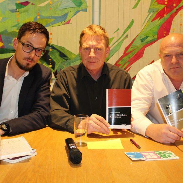Lesung mit Walter Hohenauer und Andreas Madersbacher im Tagungshaus Wörgl 6.4.2017. Foto: Veronika Spielbichler