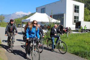 Eröffnung Radweg KW Bruckhäusl-Einöden am 10. Mai 2017. Foto: Veronika Spielbichler