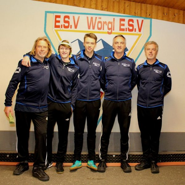 Das ESV-Team v.l. Klaus Kogler, Christopher Schneider, Tobias Fuchs, Helmut Spitzenstätter, Andreas Spitzenstätter. Foto: Wilhelm Maier